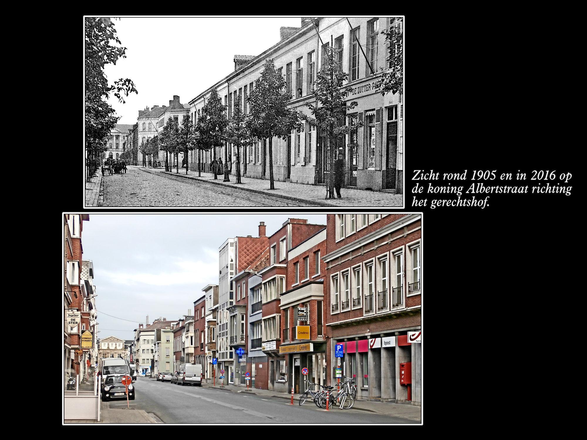 6144 Koning Albertstraat ca 1905 en 2016