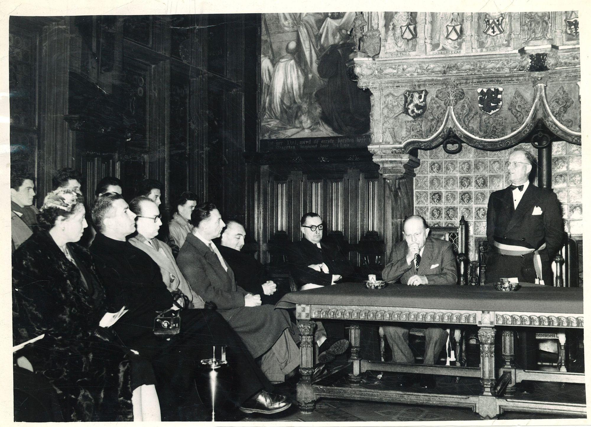 Bijeenkomst in het stadhuis