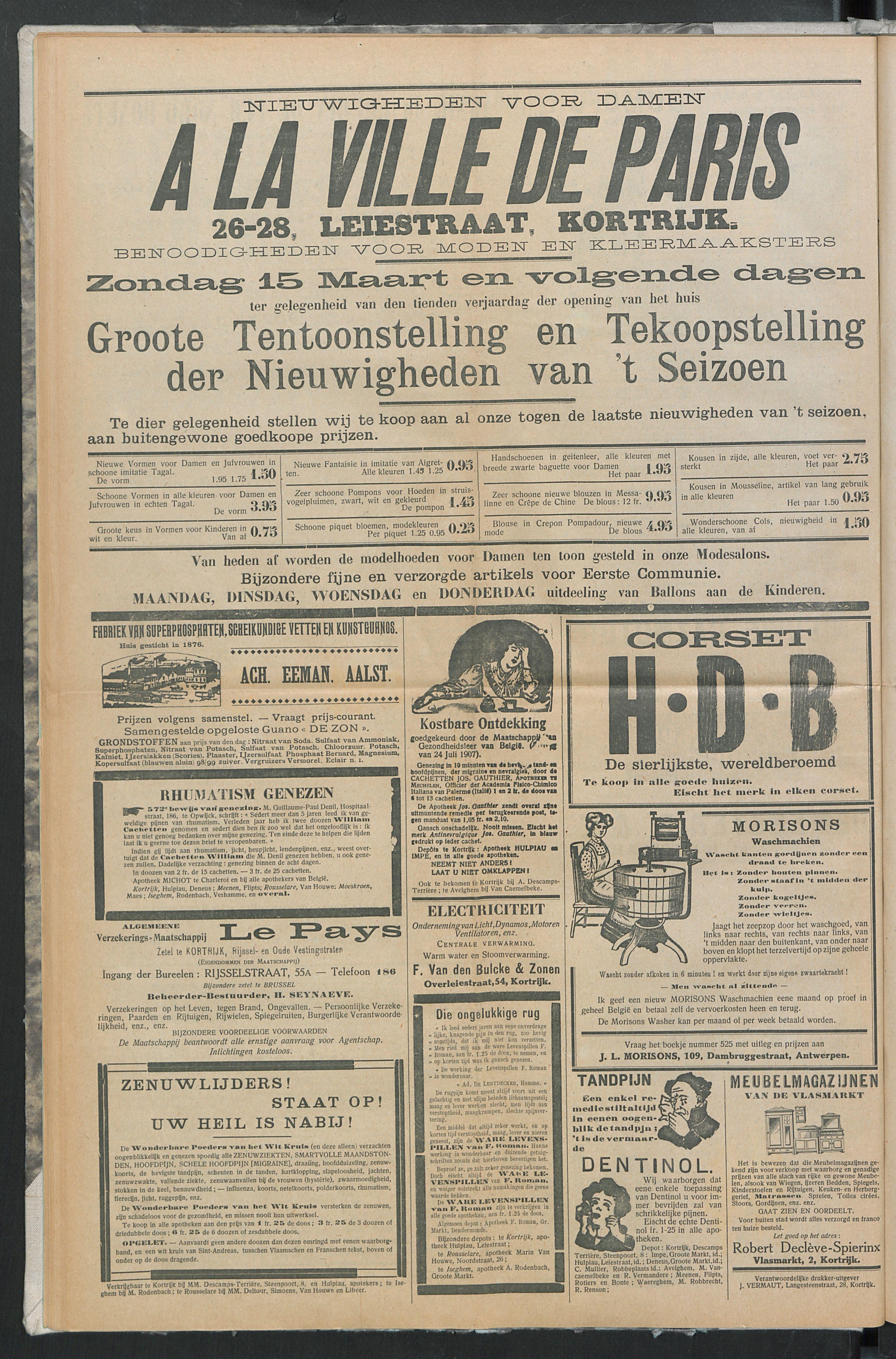 Het Kortrijksche Volk 1914-03-15 p8
