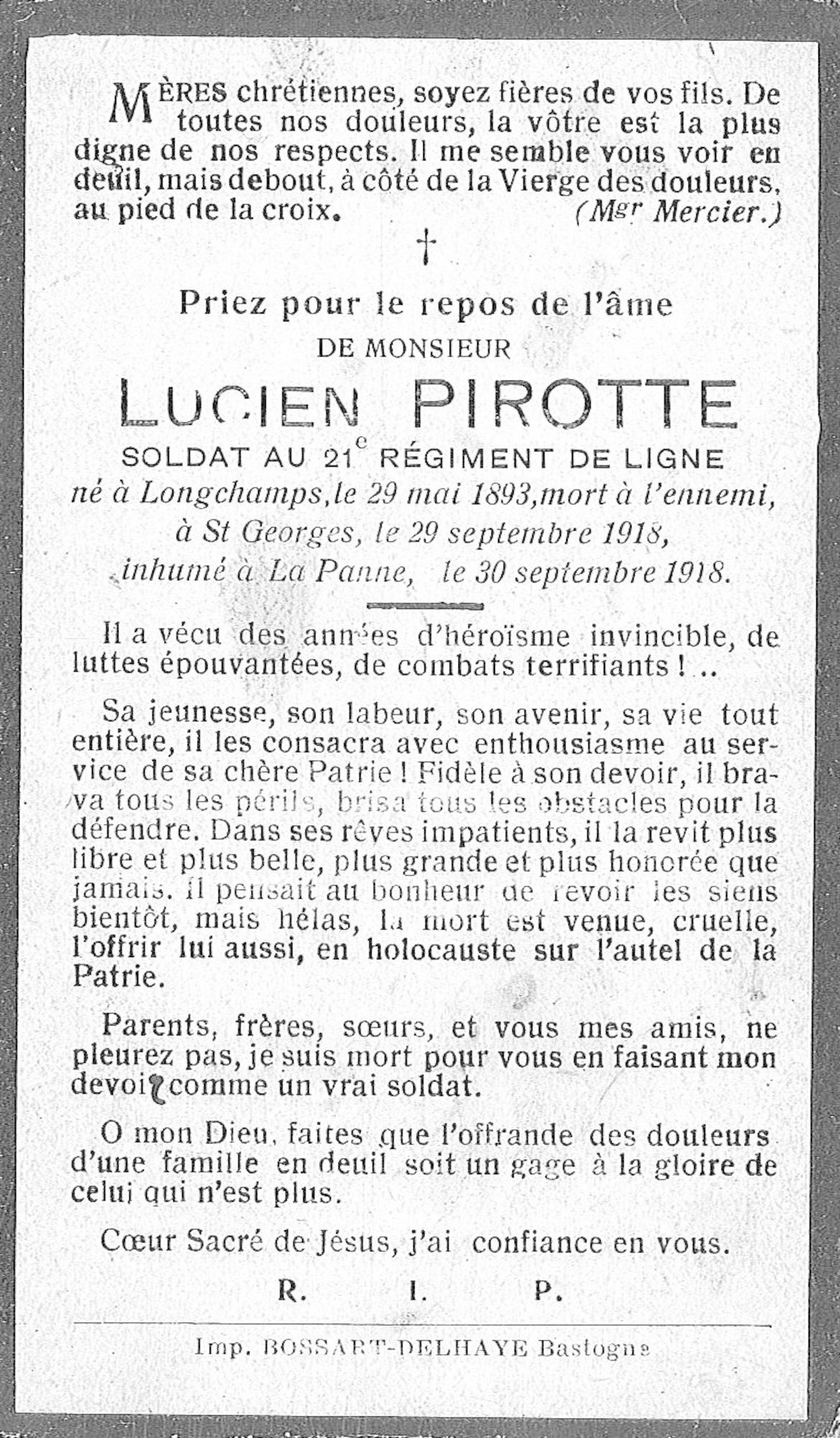 Pirotte Lucien