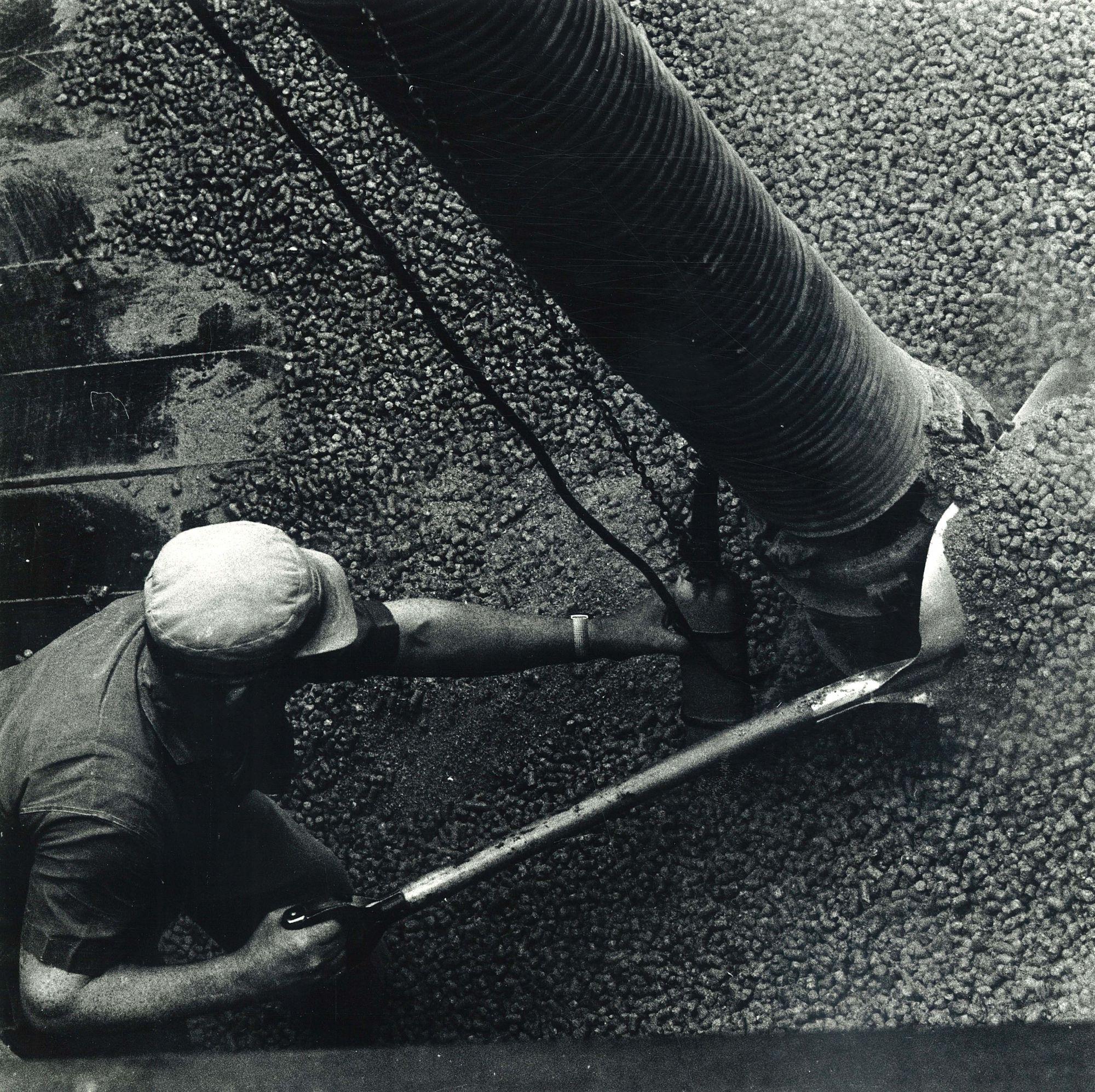 Lossen van scheepsruim in Roeselare 1972