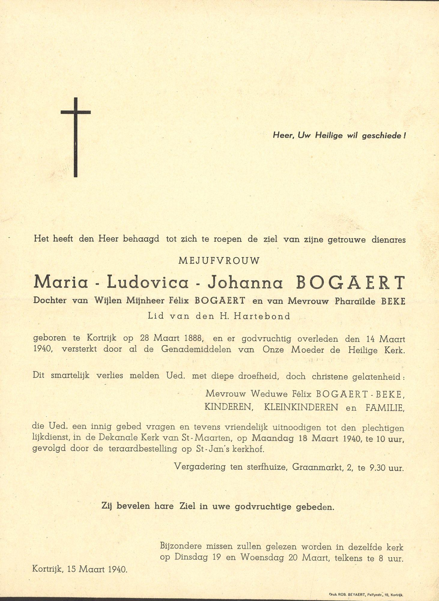 Maria-Ludovica-Johanna Bogaert