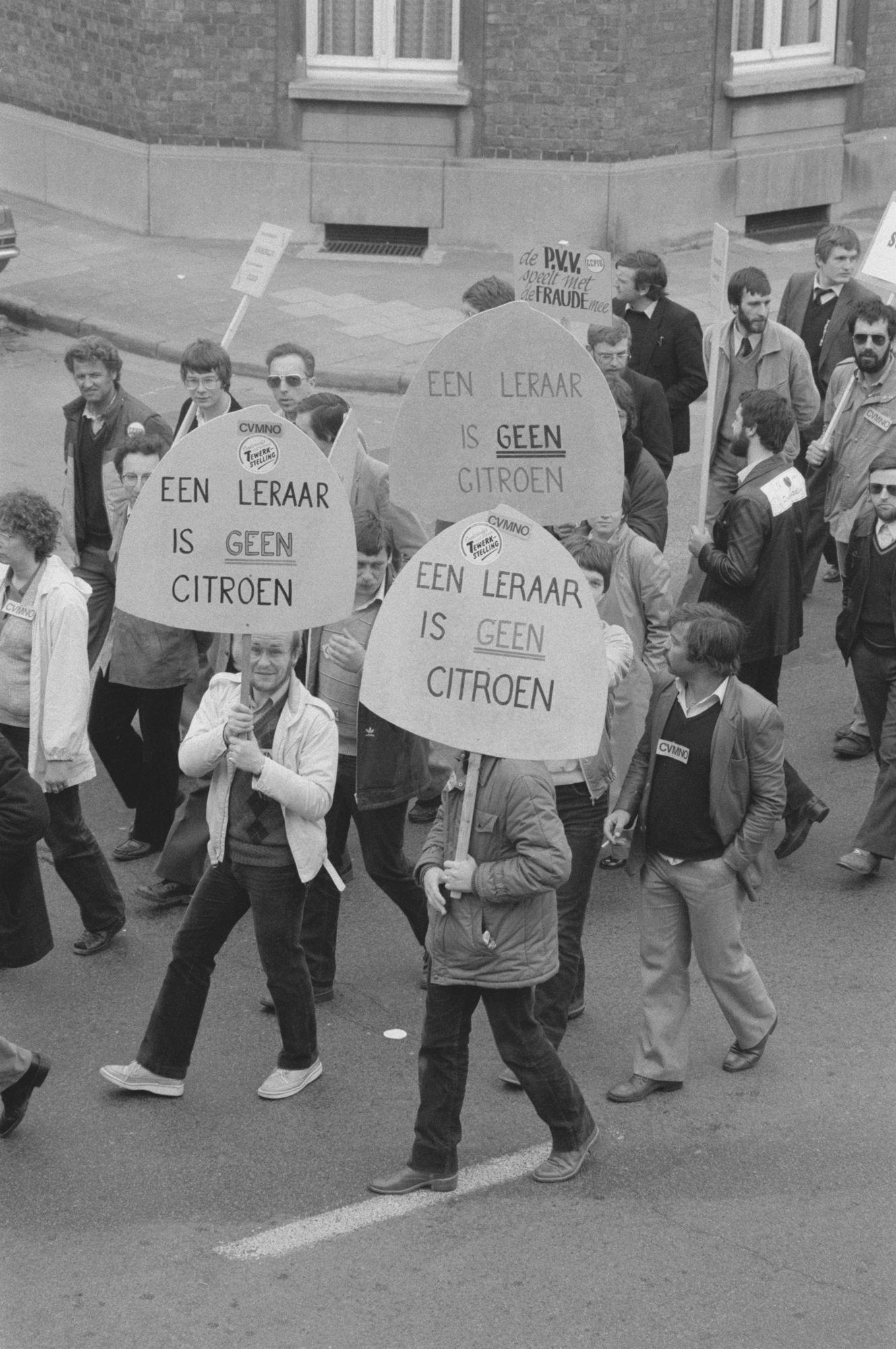 Nationale betoging van het onderwijs