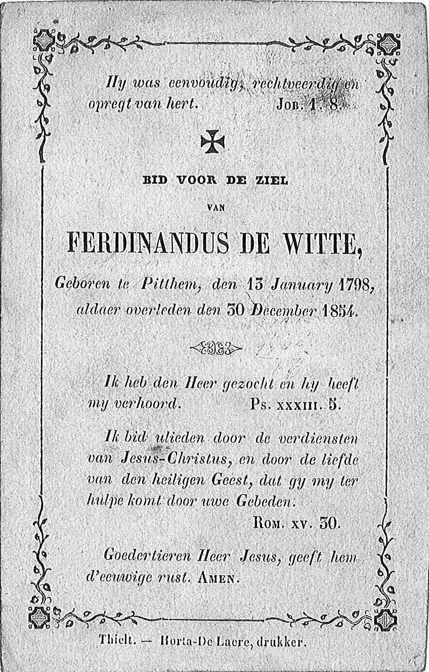 Ferdinandus de Witte