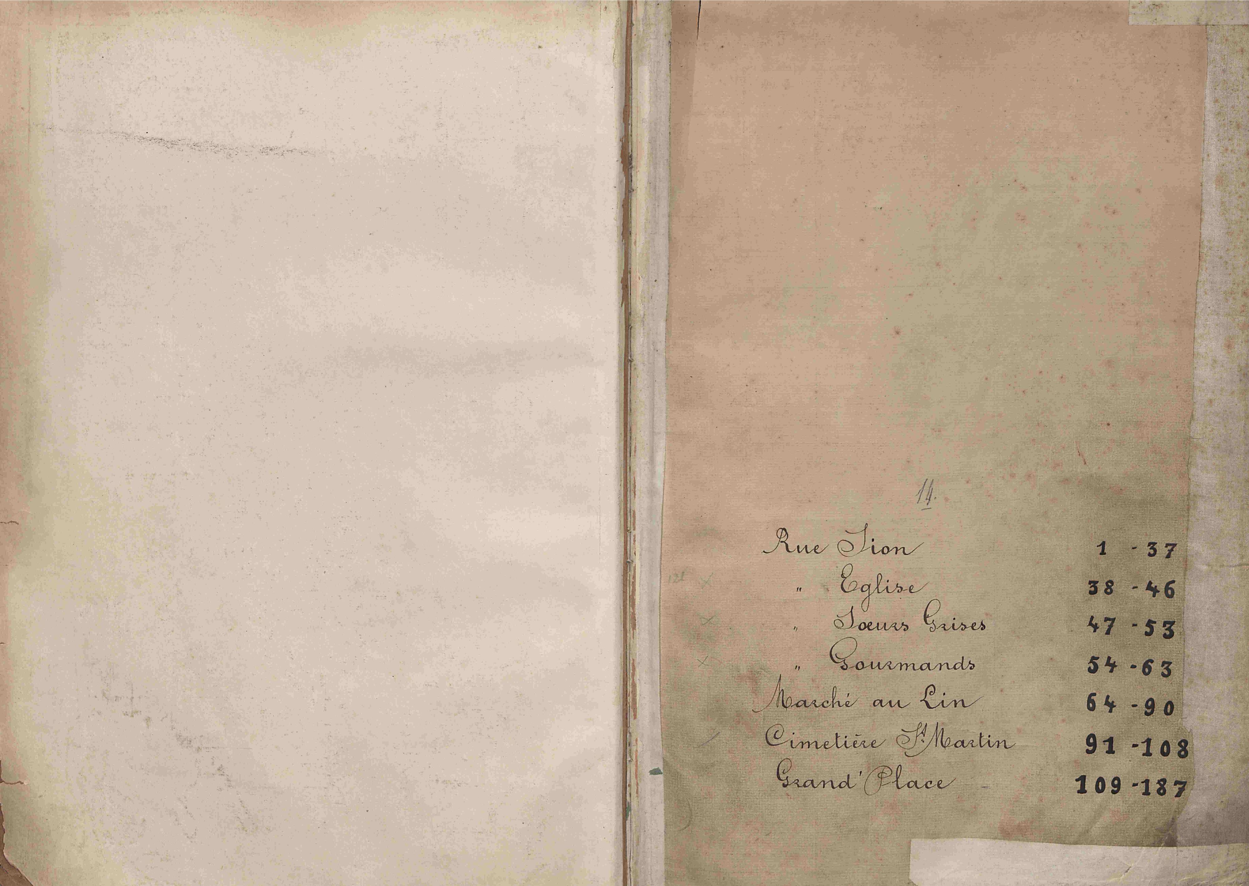 Bevolkingsregister Kortrijk 1890 boek 14