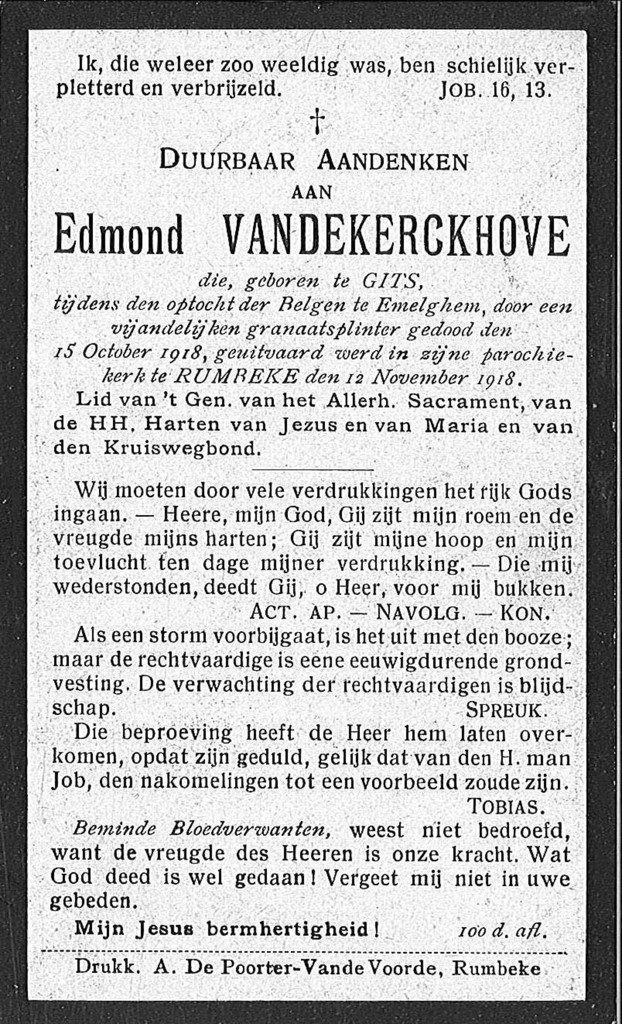 Edmond Vandekerkchove