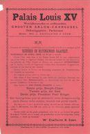"""Paasfoor 1900: Het """"Palais Louis XV"""" van de Grooten Salon-Carrousel Wed. L. Xhaflaire & Zoon"""