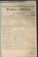 Petites Affiches De Courtrai 1835-08-23 p1