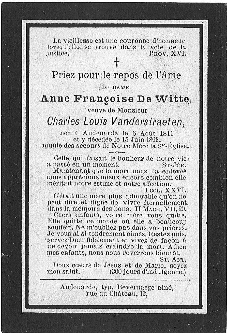 Anne-Françoise De Witte