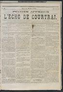 L'echo De Courtrai 1873-03-30