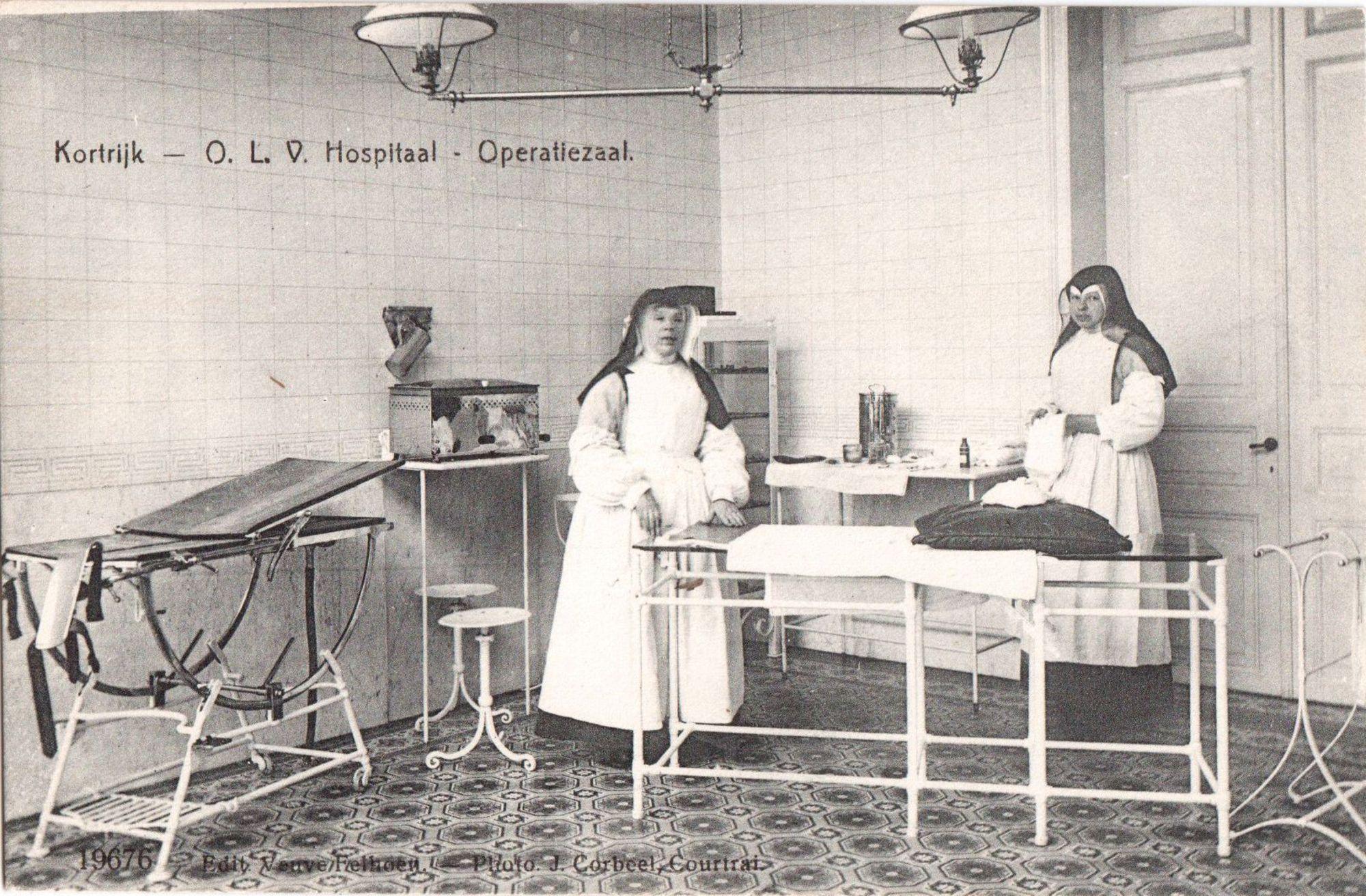 Operatiezaal in het O.L.V. Hospitaal