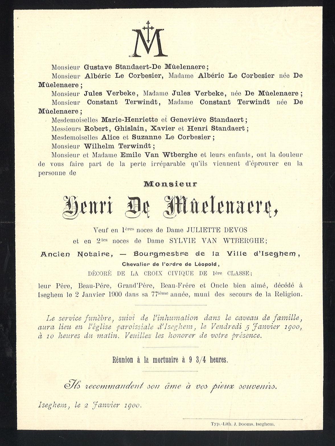Henri De Mûelenaere
