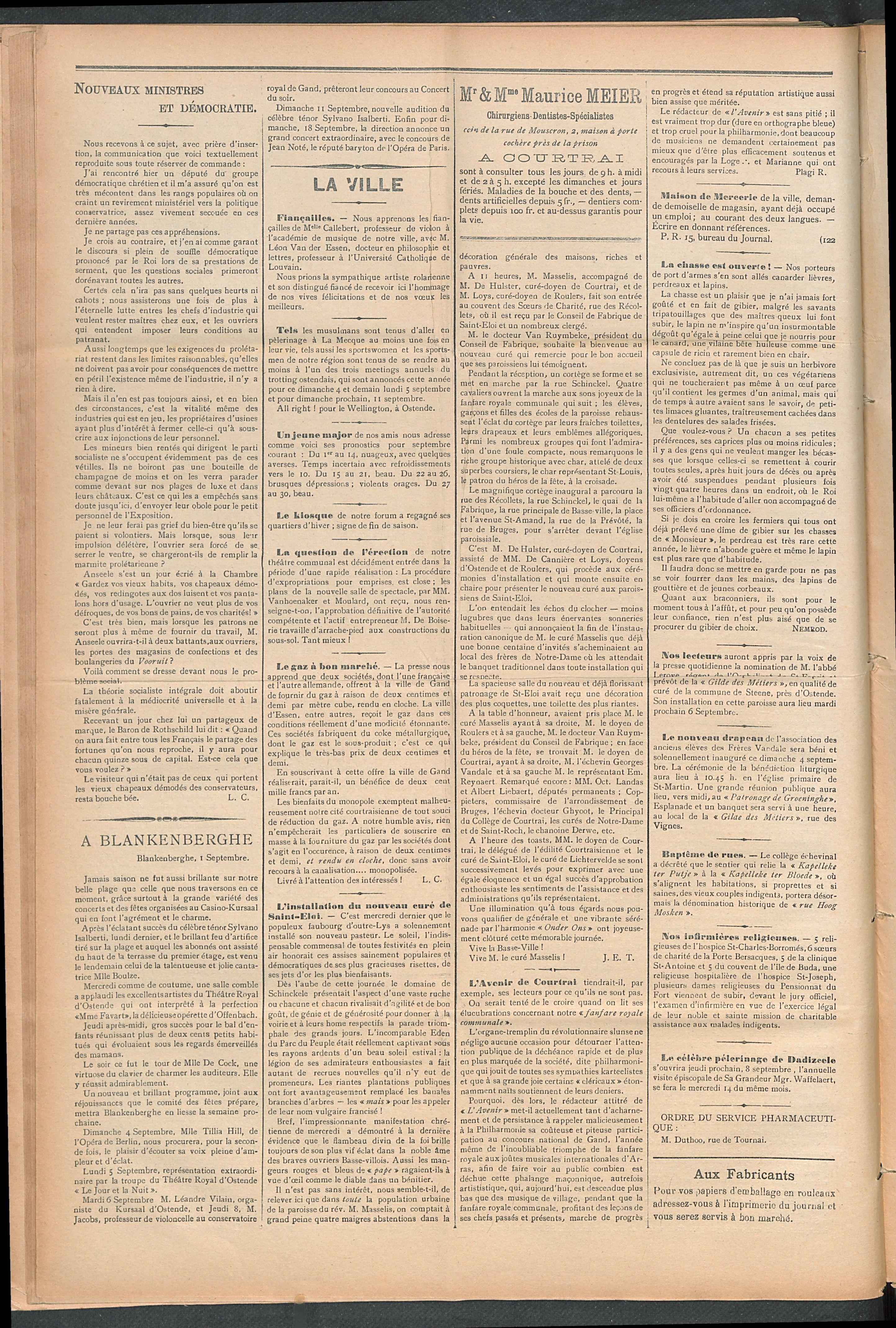 L'echo De Courtrai 1910-09-04 p2