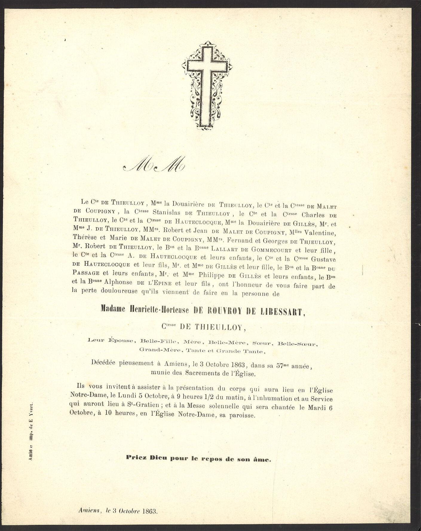 Henriette-Hortense De Rouvroy De Libessart
