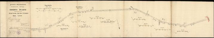 Plan met de verbetering van de steenweg Aalbeke-Lauwe, 1930-1931