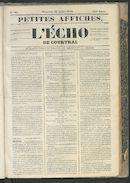 L'echo De Courtrai 1849-07-22