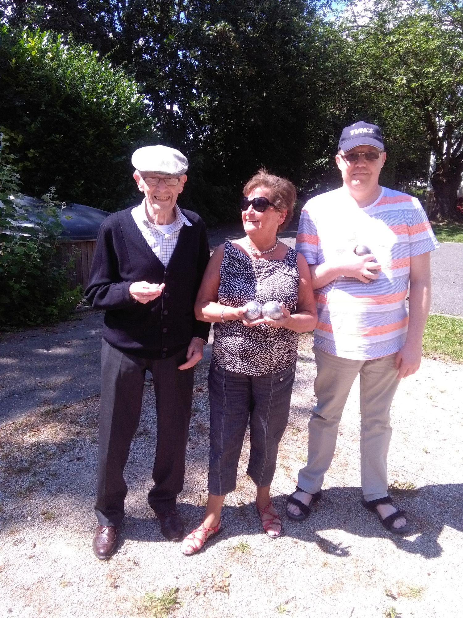 Lucien Deprez, Jeannette Lesaffre, Roland Decock