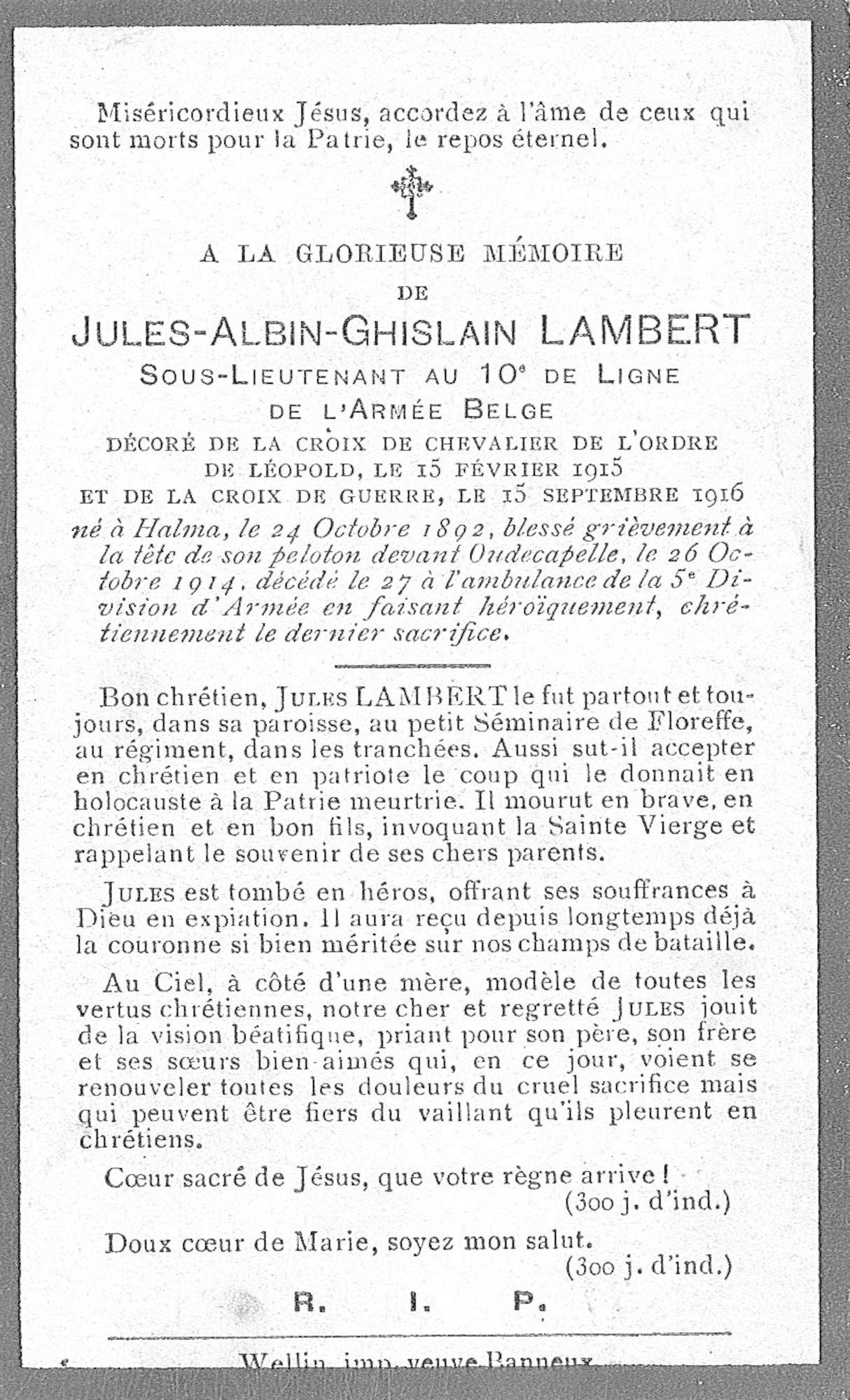Lambert Jules-Albin-Ghislain