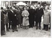 Koningin Fabiola op bezoek in Kortrijk 1980