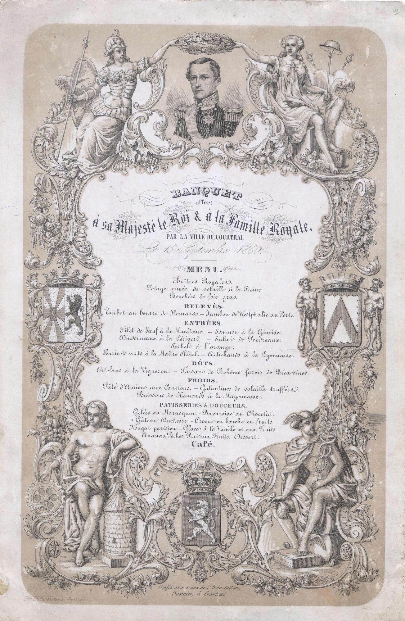 Bezoek Koning Leopold I aan Kortrijk 1860