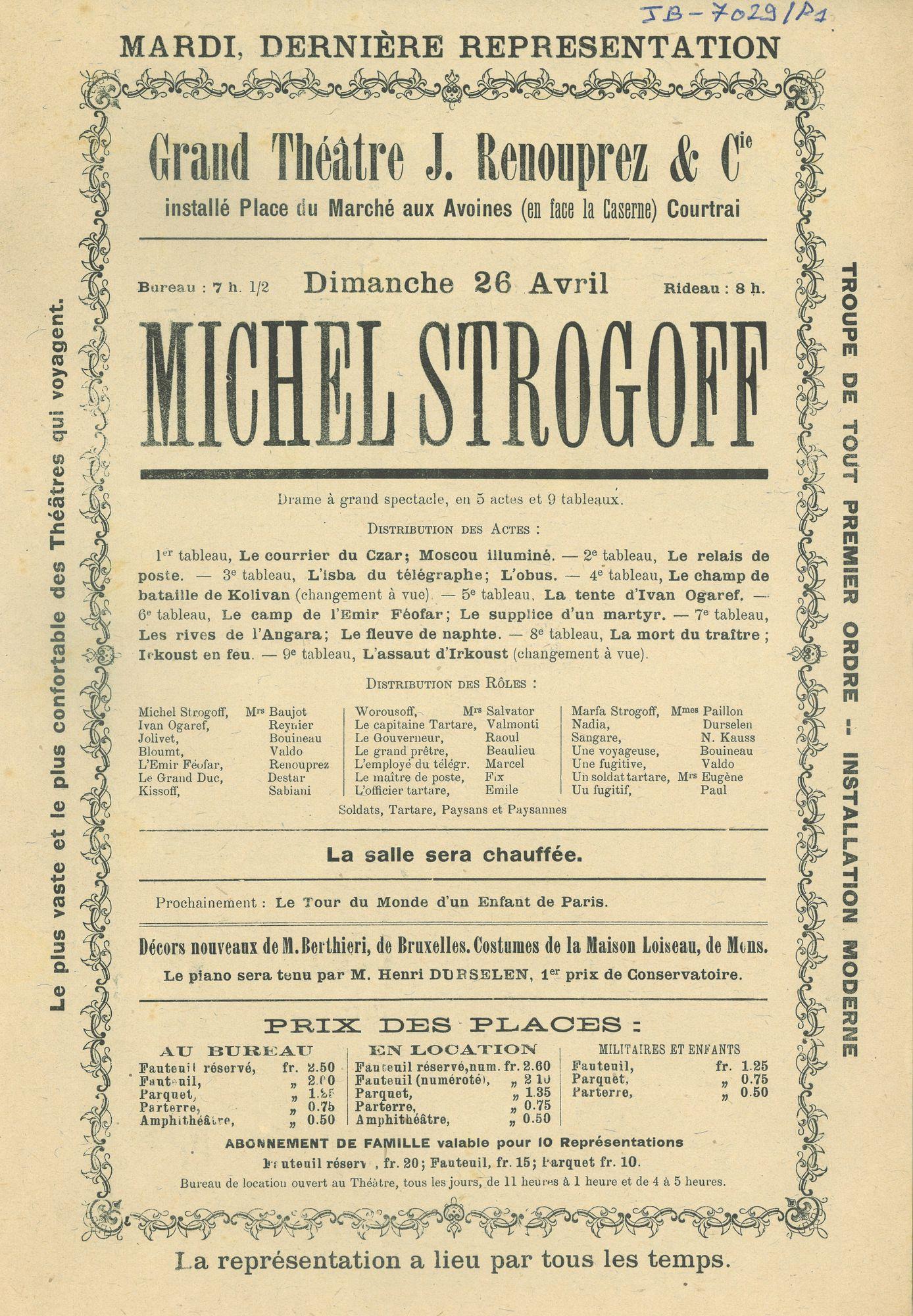 Paasfoor: Théatre J. Renouprez et Cie