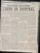 L'echo De Courtrai 1870-10-21