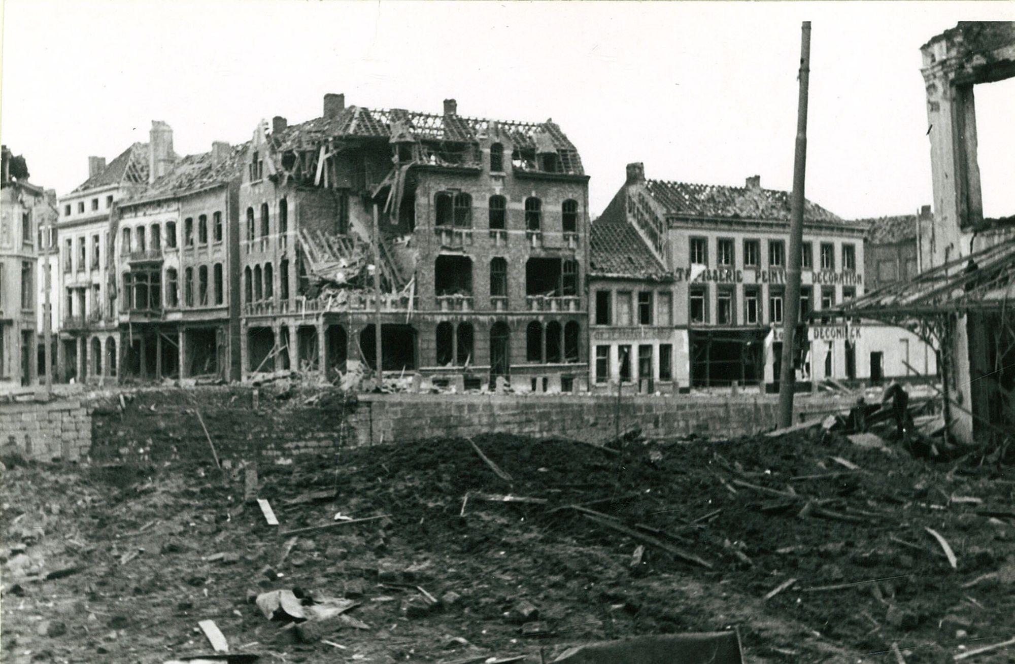 Vernielde bruggen  1940