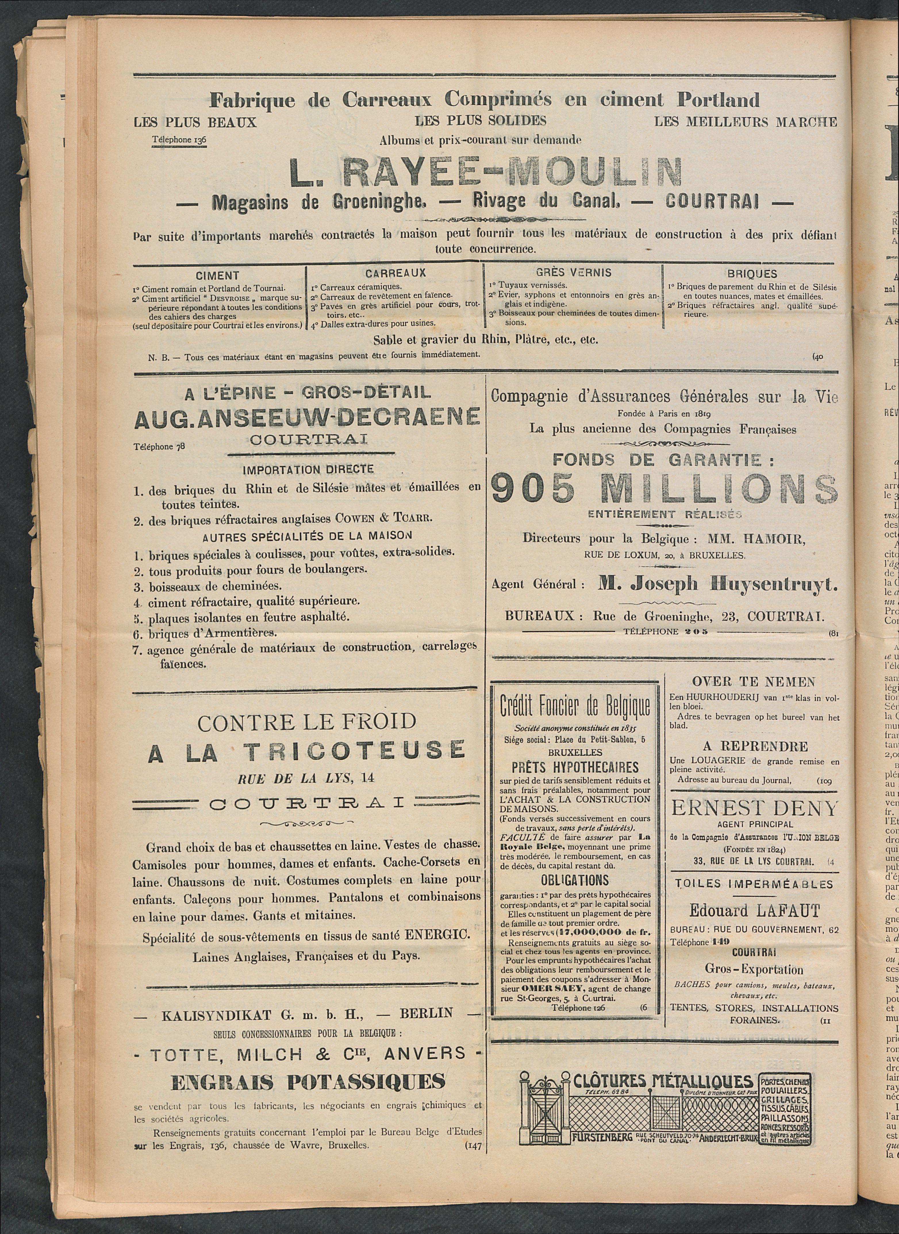 L'echo De Courtrai 1911-10-26 p4