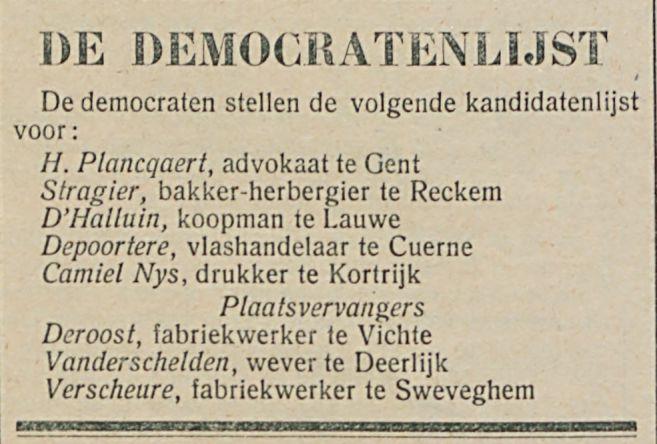 DE DEMOCRATENLIJST