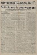 Kortrijksch Handelsblad 9 mei 1945 Nr37 p1