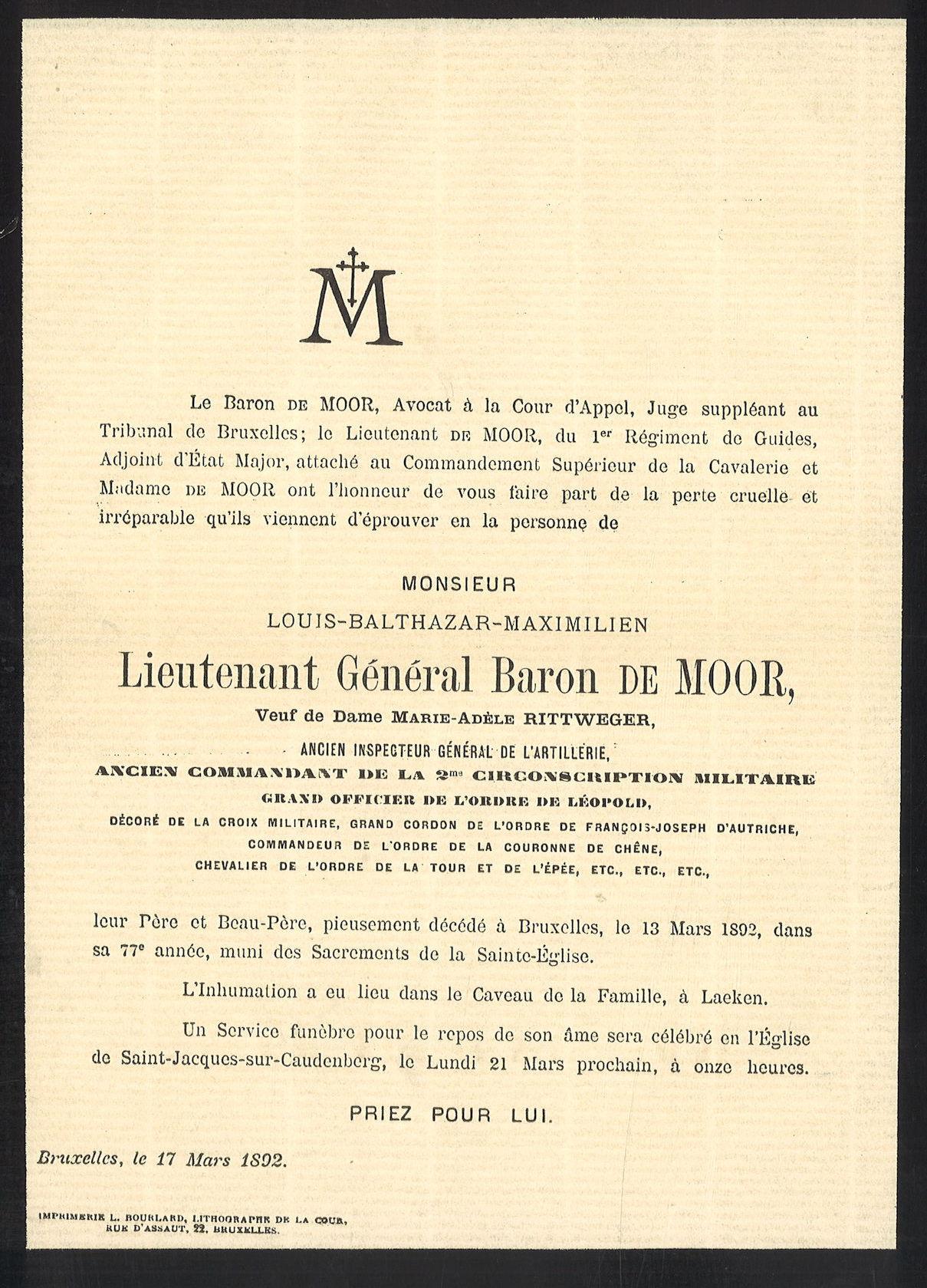 Louis-Balthazar-Maximilien de Moor
