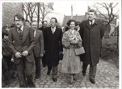 Koningin Fabiola bezoekt de Kinderboerderij in Marke 1980