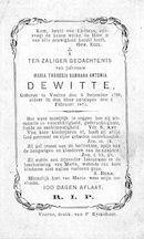 Maria Theresia Barbara Antonia Dewitte