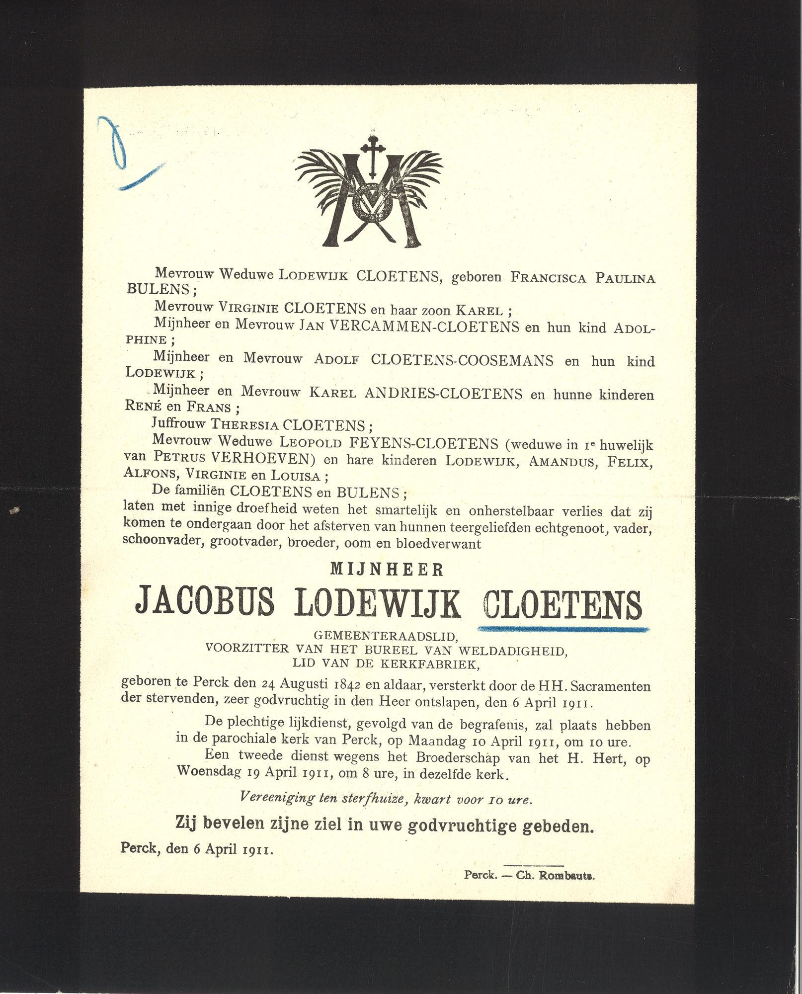 Jacobus Lodewijk Cloetens