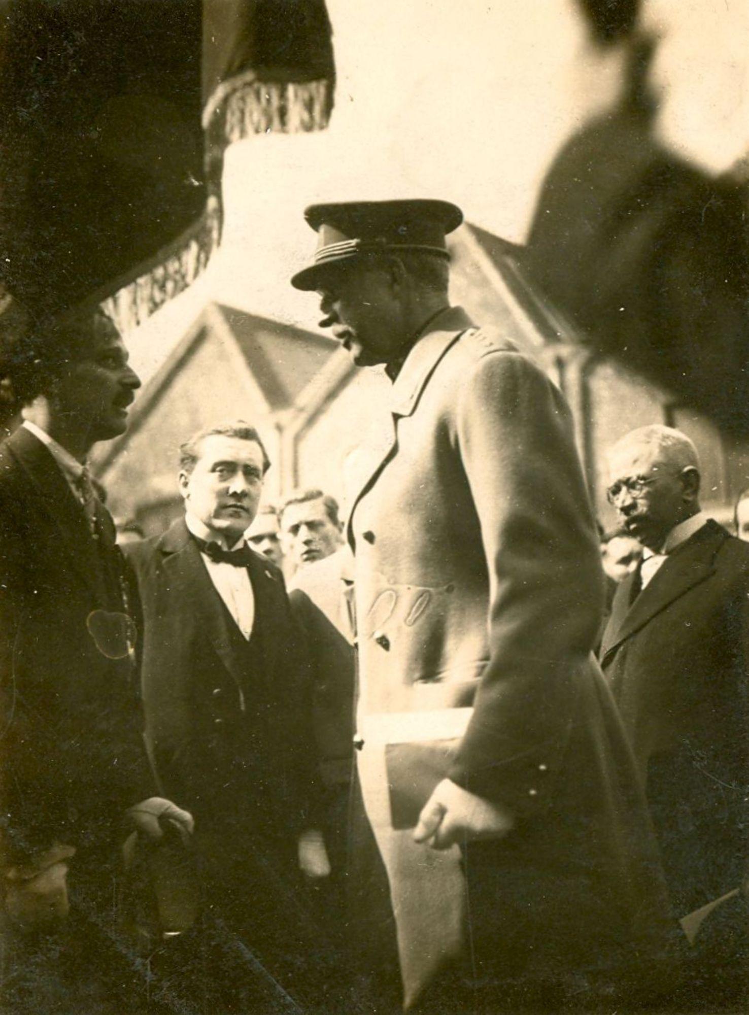 Koning Albert I bij de gebroeders De Coene