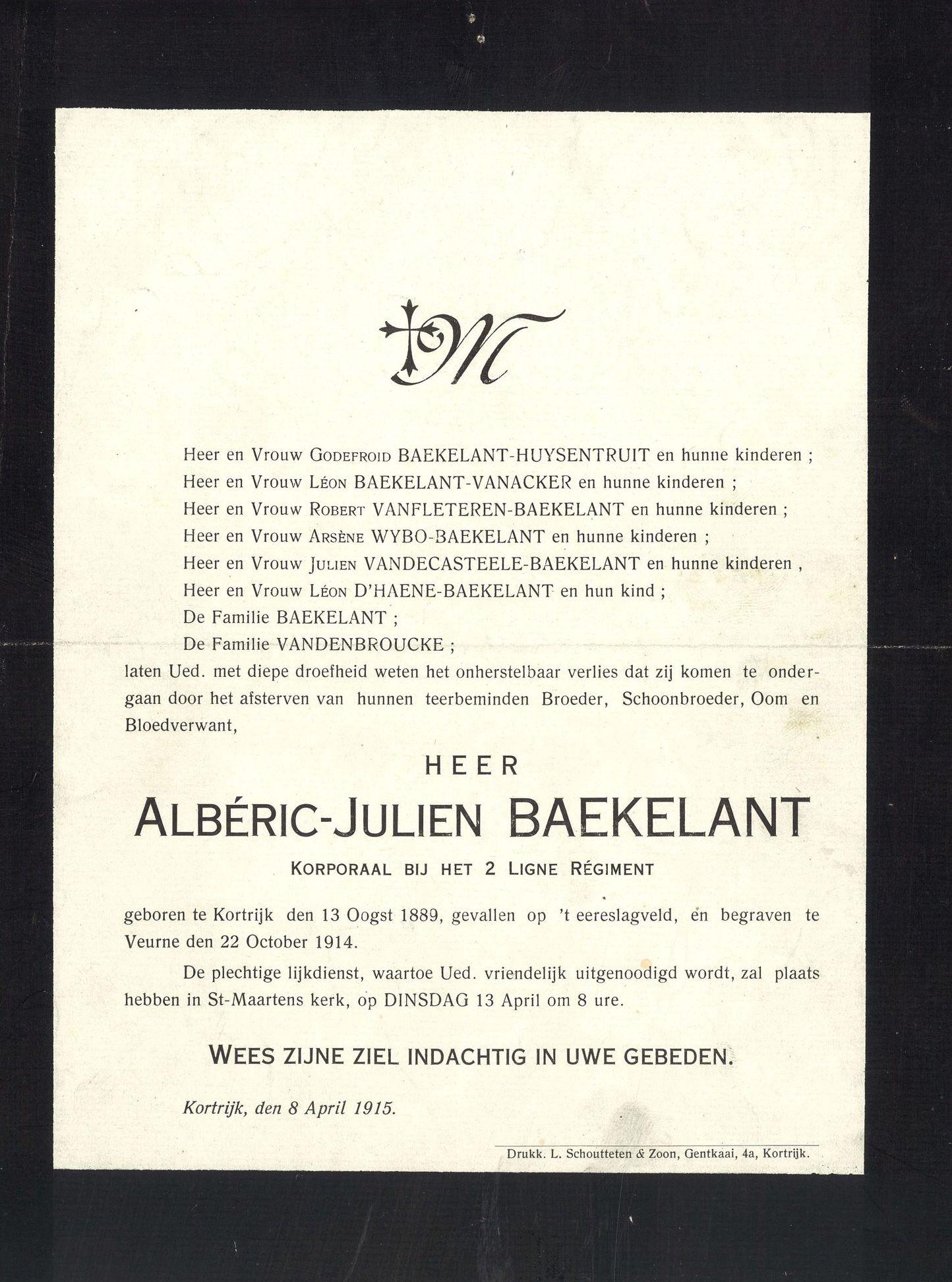 Albéric-Julien Baekelant