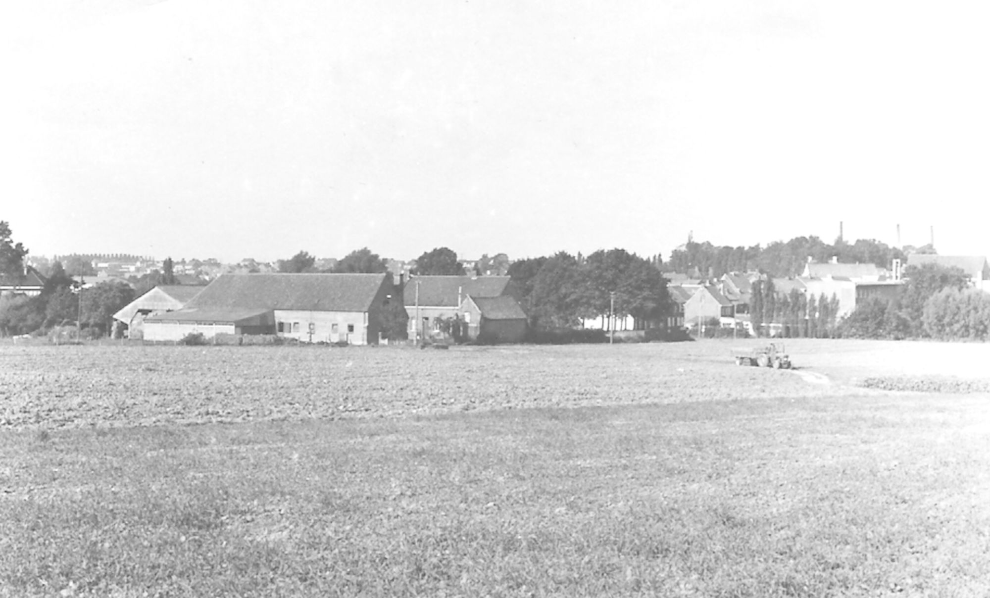Panorama Hellestraat Marke jaren 1950