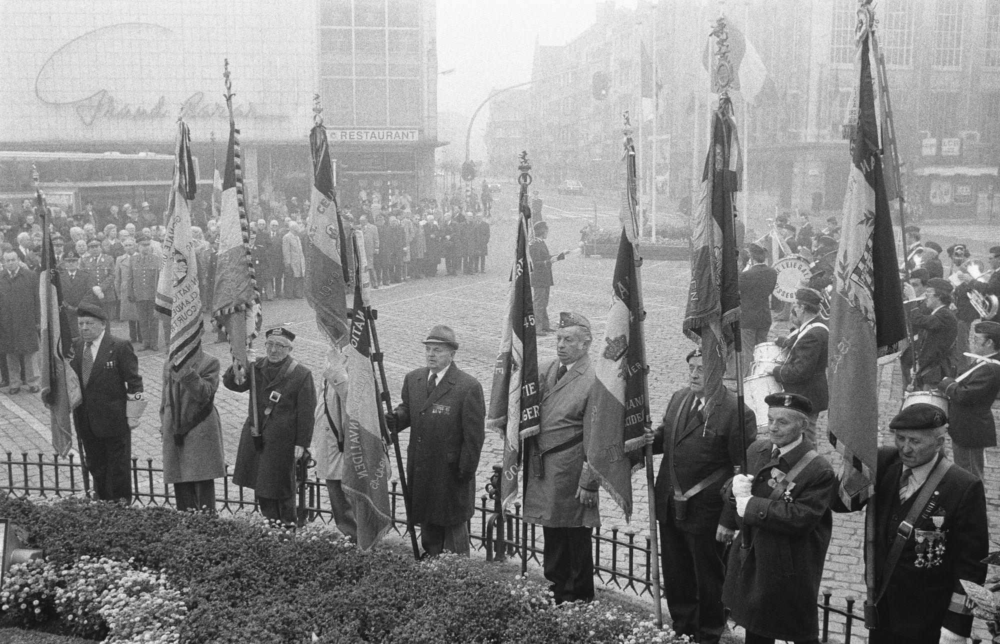 Herdenkingsplechtigheid aan het monument voor de Eerste Wereldoorlog