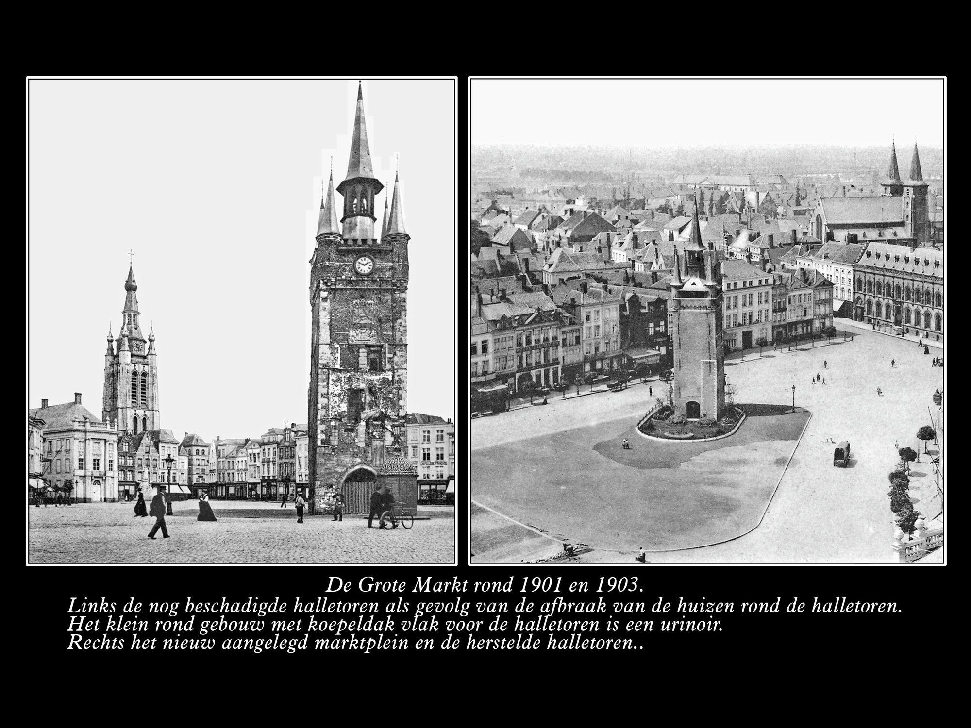 De Grote Markt ca1901 en ca1903