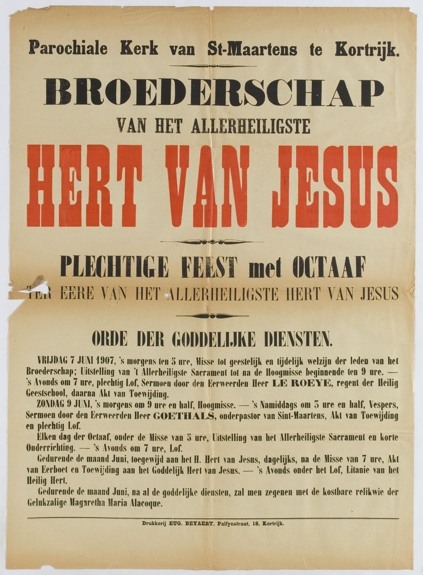 Plechtigheden Sint Maartenskerk 1907