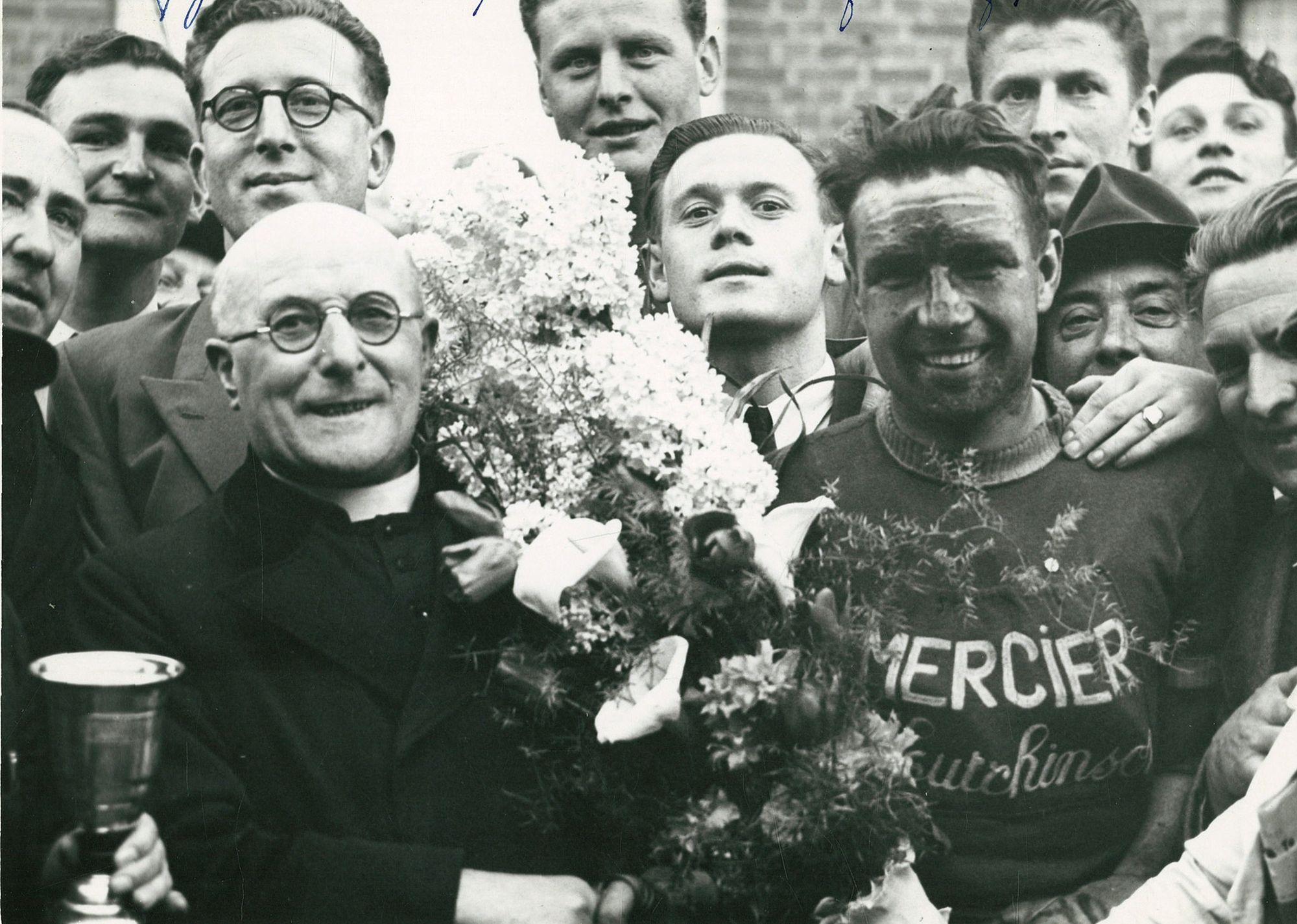 Brugge 1951, beroepsrenner Leopold Degraveleyn
