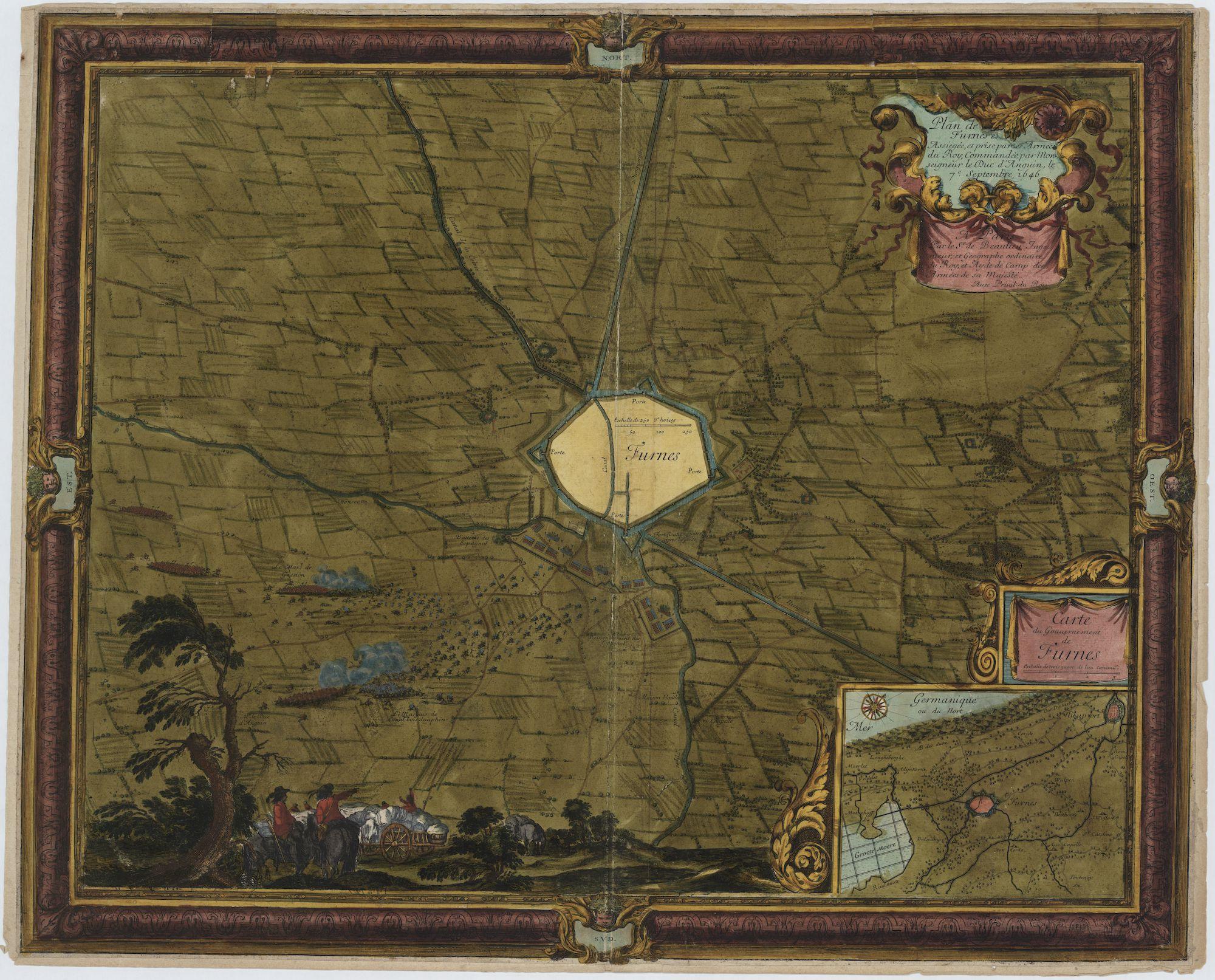 Westflandrica - Veurne, plan tijdens de belegering