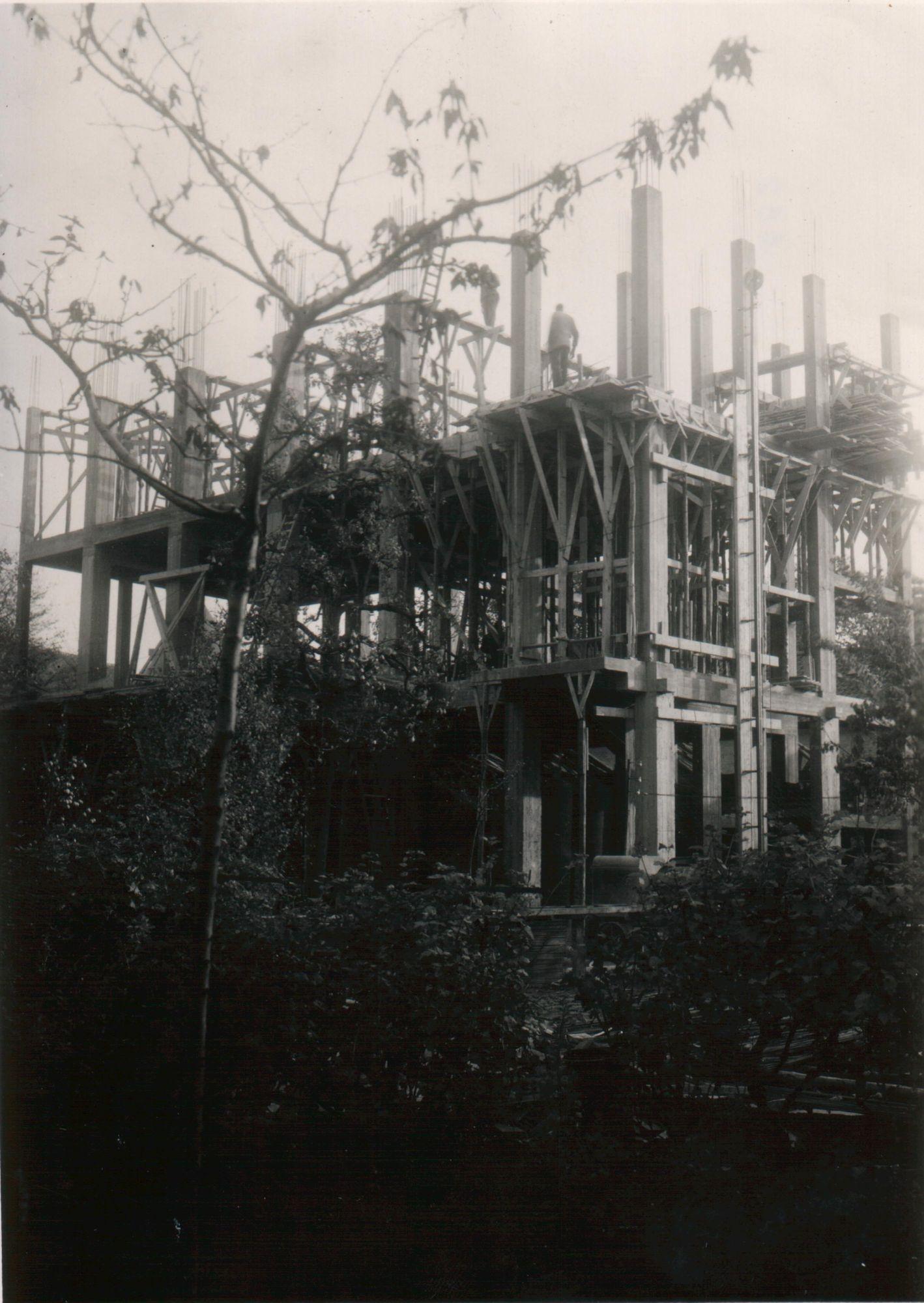 Tacktoren in opbouw 1947