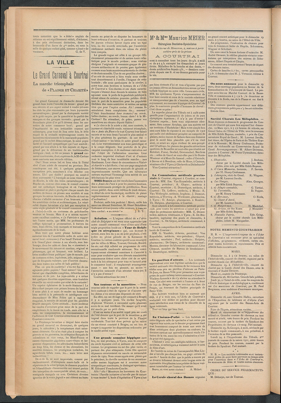 L'echo De Courtrai 1911-03-12 p2