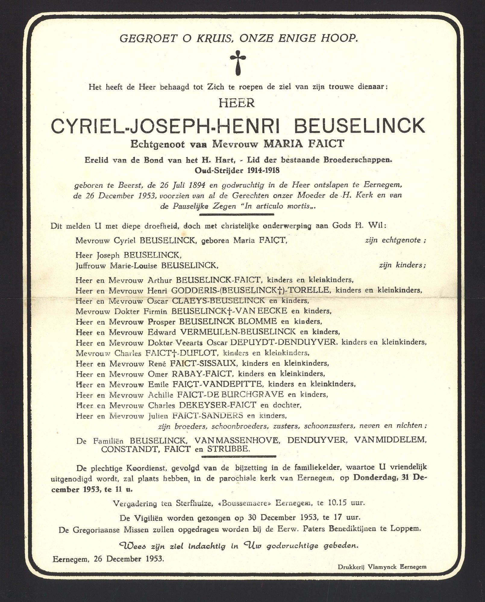 Beuselinck Cyriel-Joseph-Henri