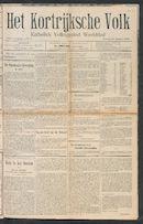 Het Kortrijksche Volk 1910-01-23 p1