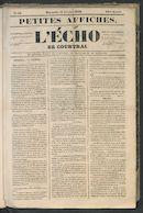 L'echo De Courtrai 1849-02-11