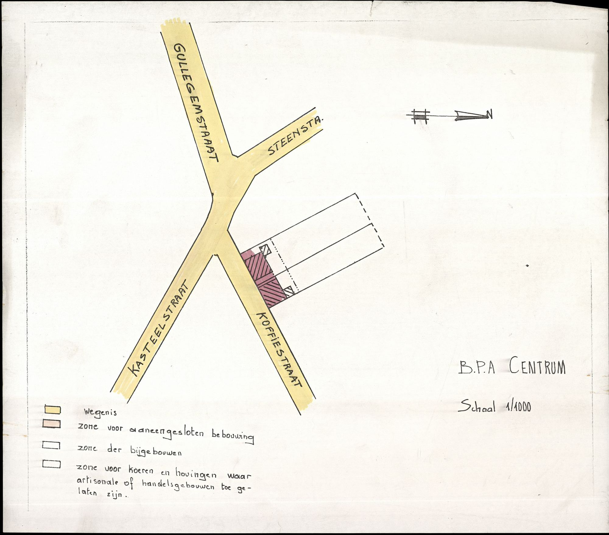 Plan B.P.A.-centrum Heule, 2de helft 20ste eeuw