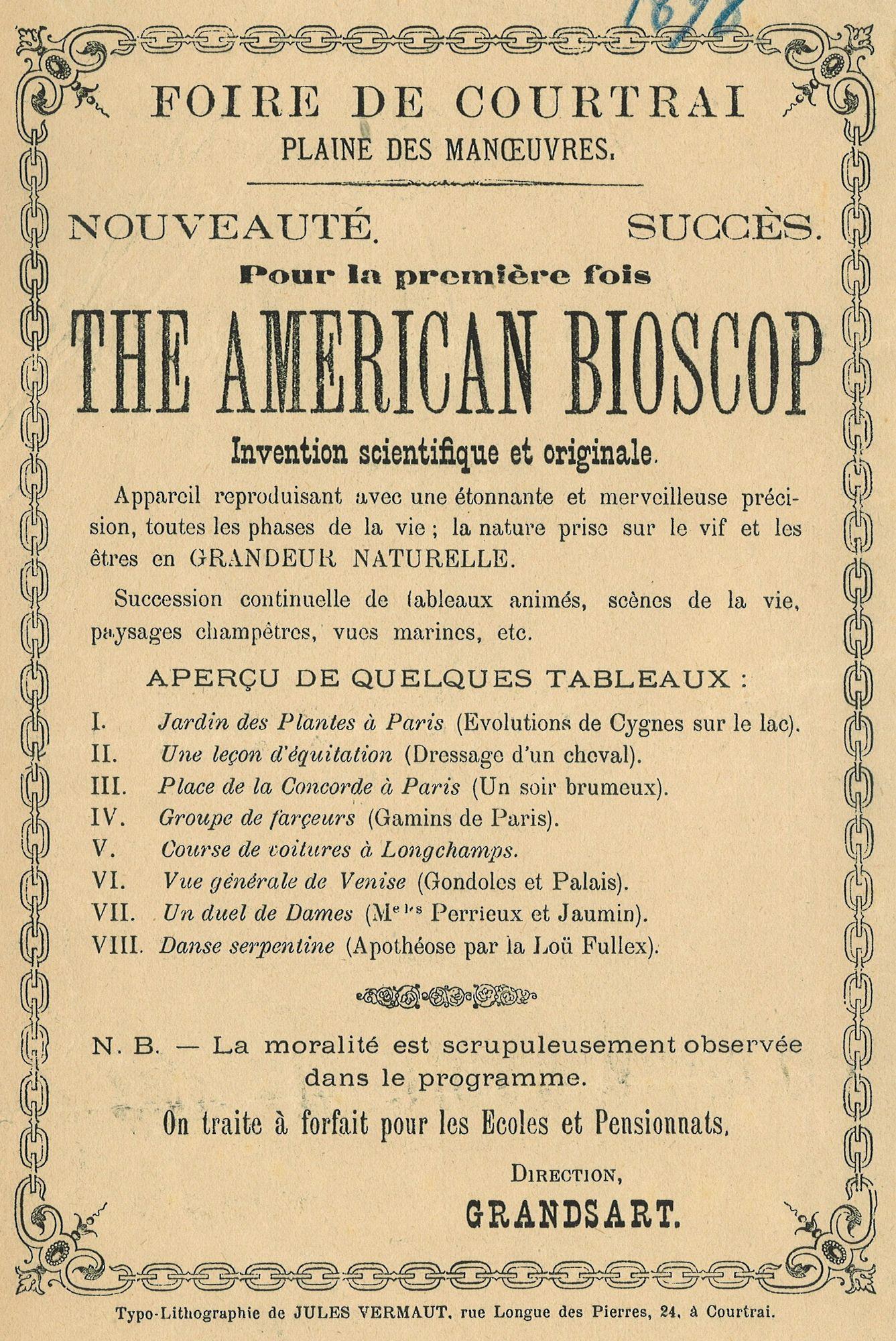 The american bioscop in 1898