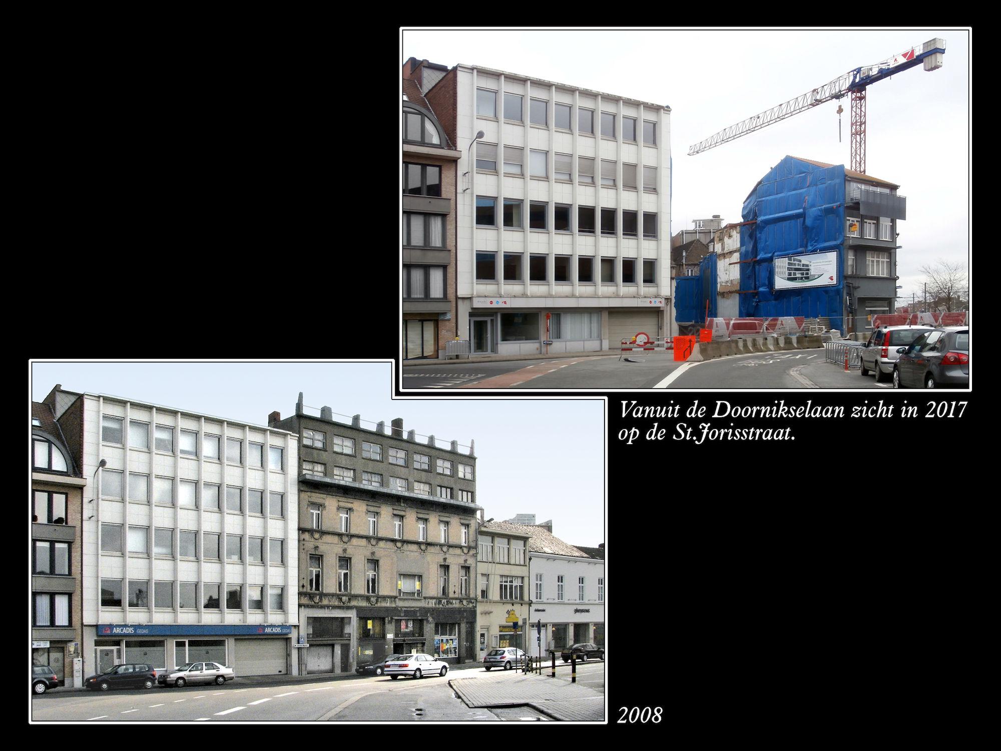 Sint-Jorisstraat 2008 en  2017